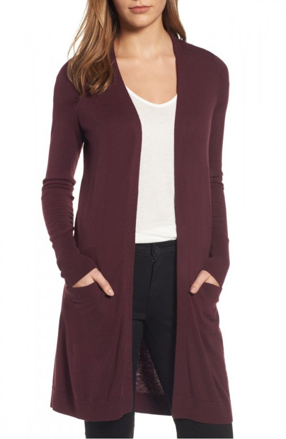 Long Open Front Cardigan (Regular & Petite)