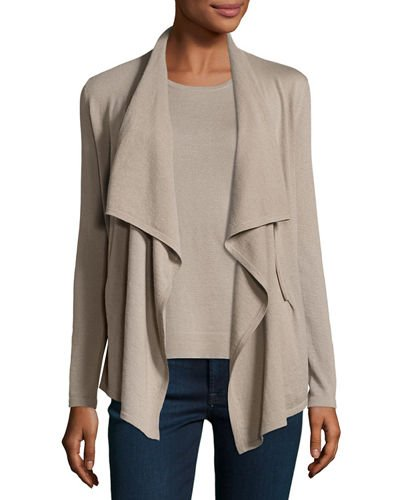 Cashmere Collection Cashmere Zip-Front Cardigan