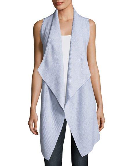 Variegated Ribbed Cashmere Vest