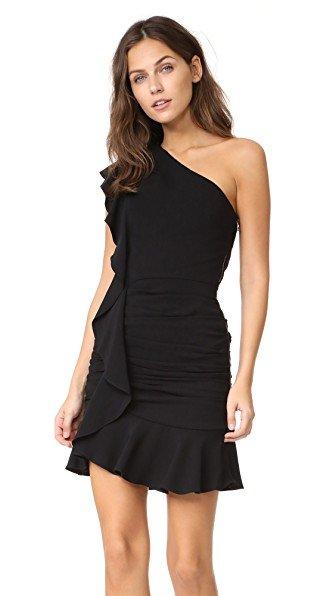 Kingston Asymmetrical Ruffle Mini Dress
