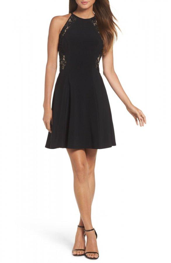 Lace & Jersey Party Dress