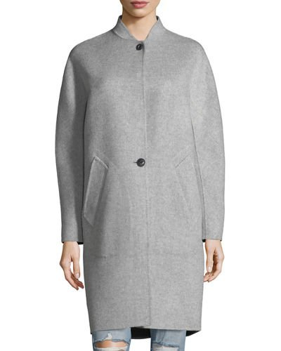 Darwen Long-Line Wool-Cashmere Long Coat