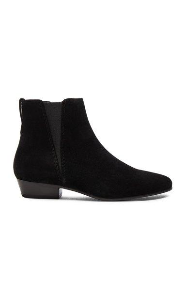 Etoile Patsha Velvet Booties in Black