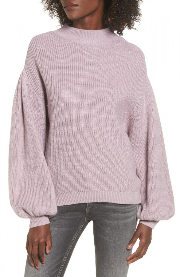 Blouson Sleeve Sweater