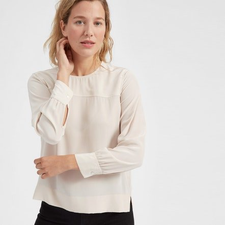 The Silk Long-Sleeve Blouse