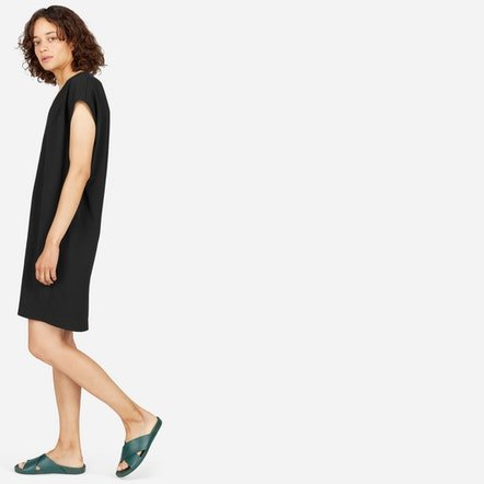 The Japanese GoWeave V-Neck Cocoon Dress