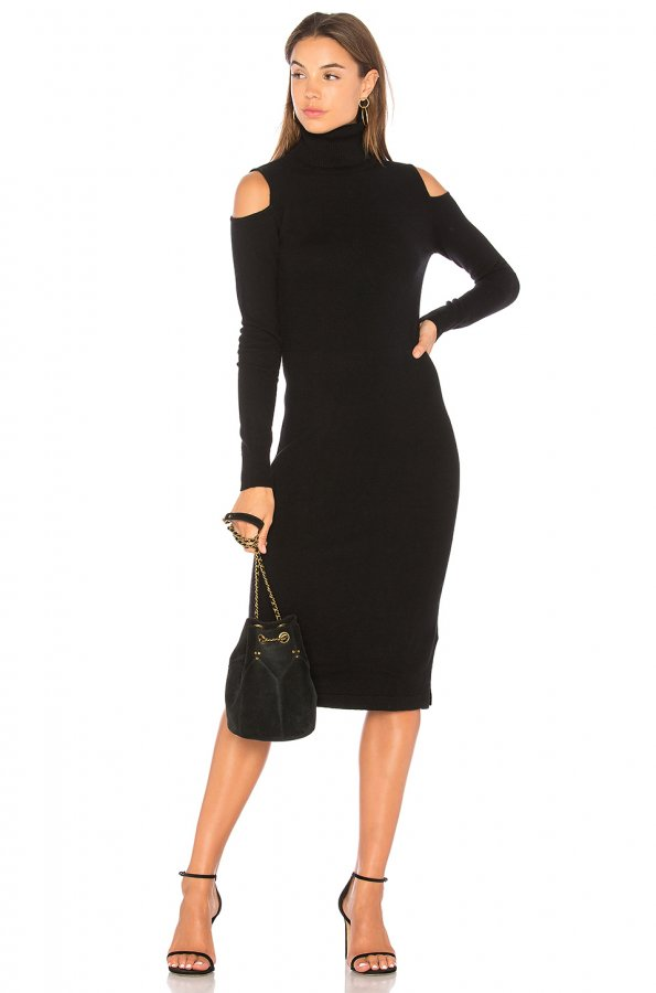 Cold Shoulder Body Con Dress
