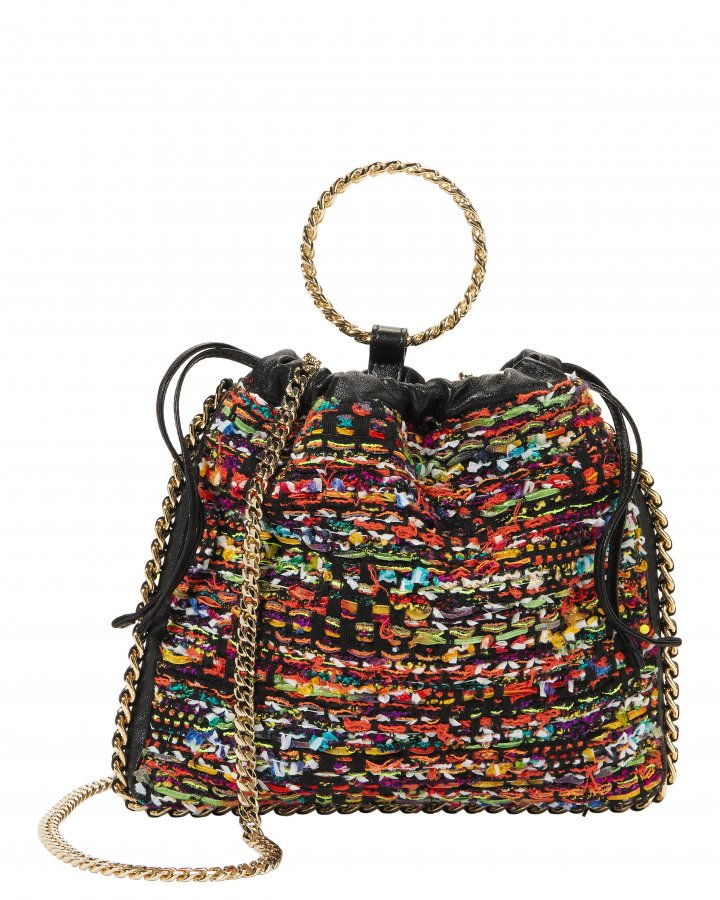 Multicolor Tweed B-Link Bracelet Backpack