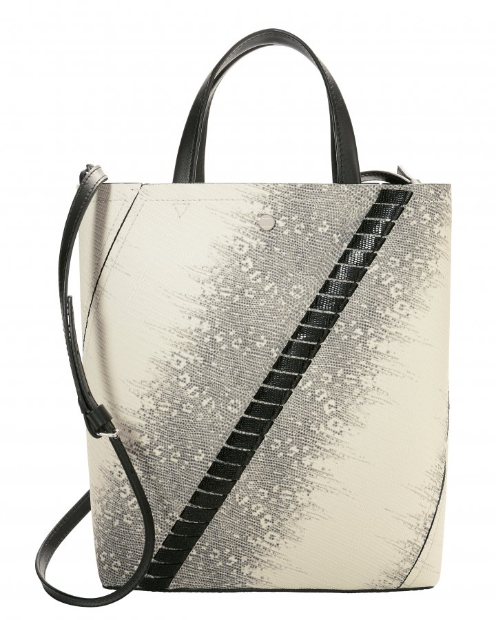 Hex-Embossed Whipstitch Tote