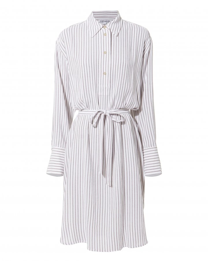 Oversized Striped Shirtdress