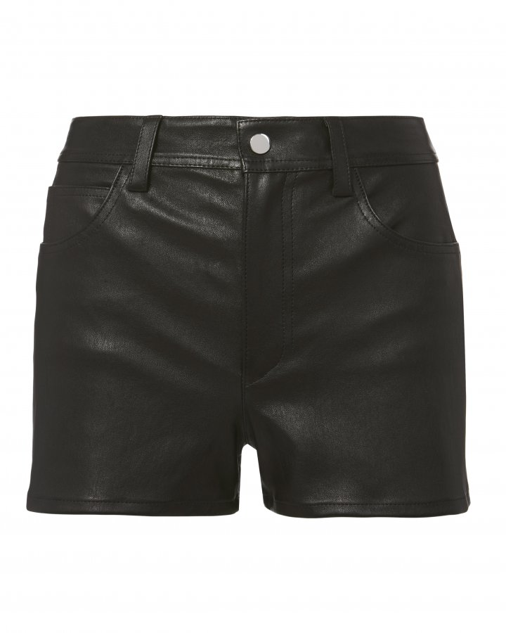 Stretch Leather Shorts