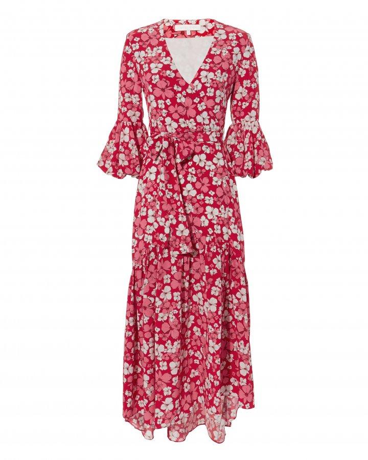 Ingrid Wrap Midi Dress