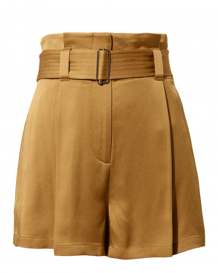 Deliah Belted Satin Shorts