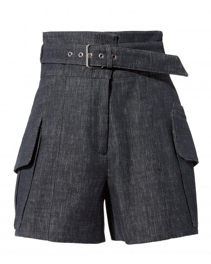 Indigo Belted Shorts