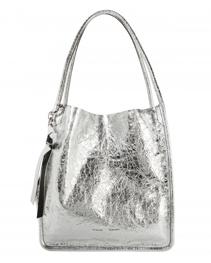 Metallic Leather Extra Large Tote