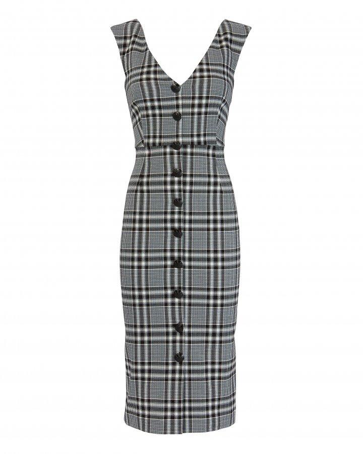 Lark Plaid Midi Dress