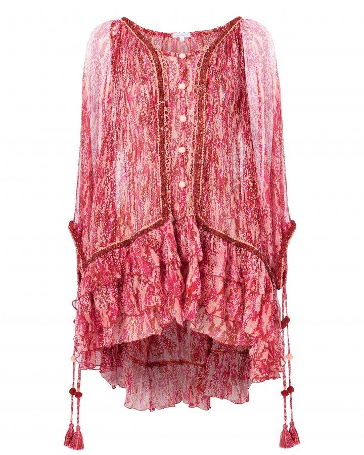 Bety Silk Poncho Dress
