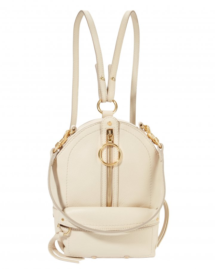 Small Ivory Leather Backpack