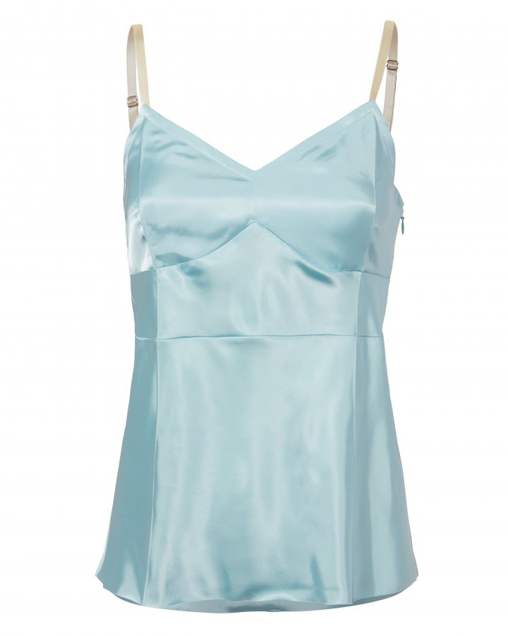 Icy Blue Slip Top