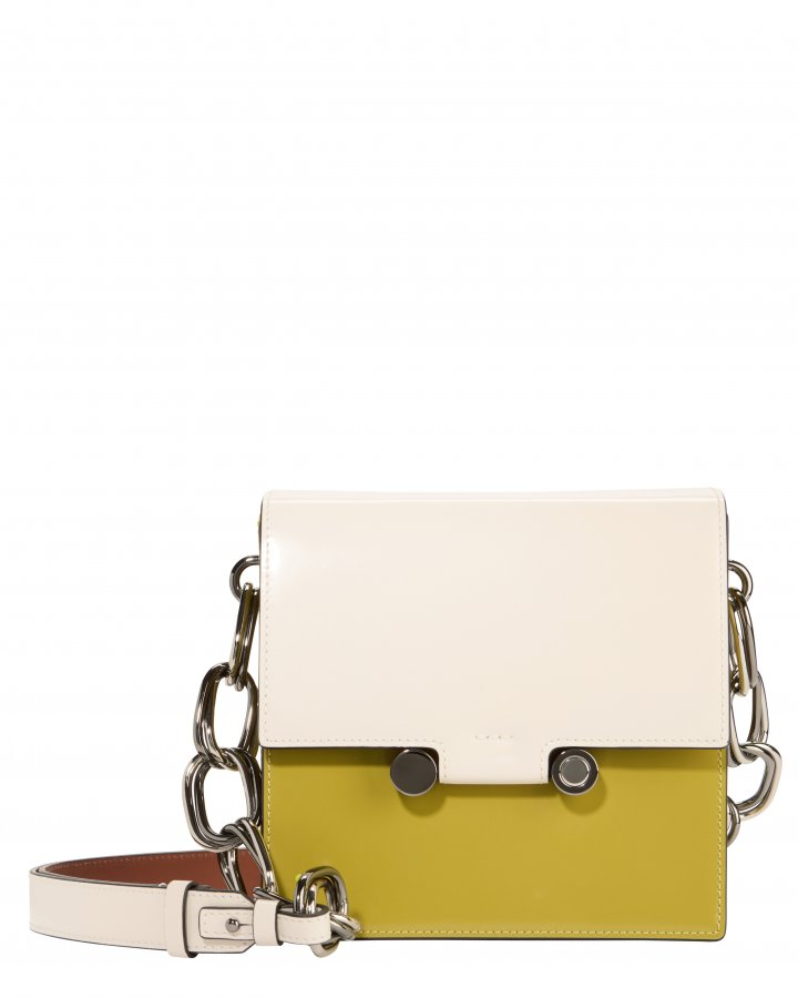 Chain Link Colorblocked Box Bag