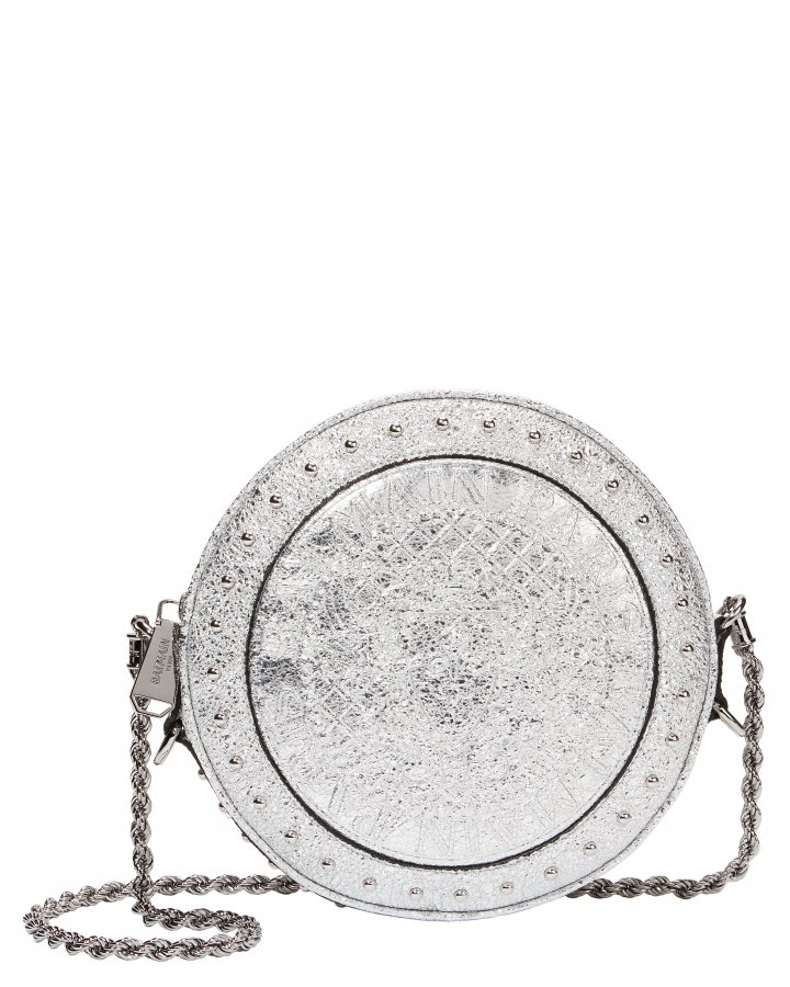 Disco Studded Circle Crossbody Bag
