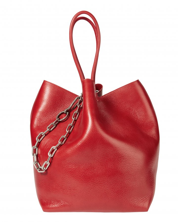 Roxy Large Red Leather Tote