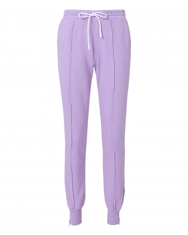 Milan Zip Detail Purple Jogger Pants