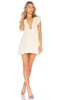 Kaia Wrap Dress in Cream