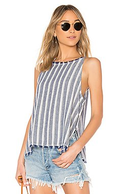Side Button Tank in Zuma Beach Stripes