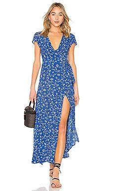 Summer Safari Dress in Blue Coast