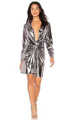 Fame & Lust Dress in Silver Lame