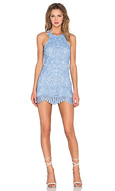 Caspian Shift Dress in Crystal Blue