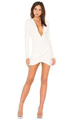 Marvellous Plunge Dress in Ivory