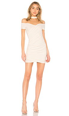 Cordelia Choker Ruched Dress in White