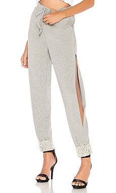 Side Slit Jogger Pant in Heather Grey