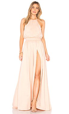 Khloe Gown in Dusty Pink