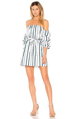 The Puff Sleeve Dress in Indio Stripe
