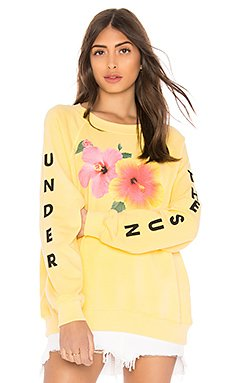 Under The Sun Sommers Sweater in Pigment Yellow Mango