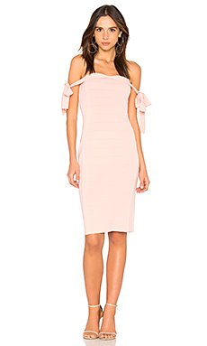 Off the Shoulder Dress in Nude Pink
