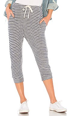 Striped Drop Crotch Pant in Denim Stripes