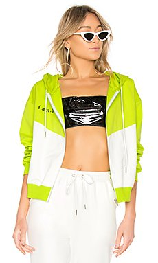 Chyna Sweater in White & Green
