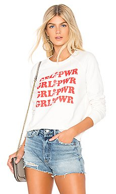GRL PWR Graphic Sweatshirt in Cream & Terracotta