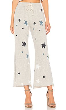Stars Flare Sweatpant in Heather Grey