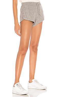 Love Knit Lace Up Short in Heather Grey