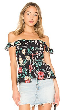 Dawn Top in Bold Floral