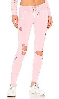 x REVOLVE Maddox Destroyed Sweatpant in Pigment Rose