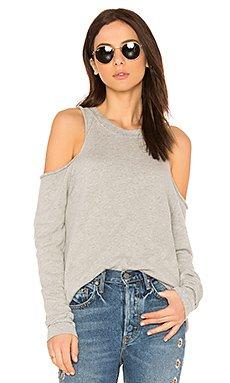 Haris Open Shoulder Sweatshirt in Heather Grey