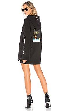 Long Sleeve Graphic Hoodie in Puma Black