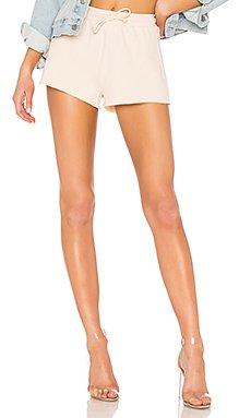 Elora Crop Shorts in Nude