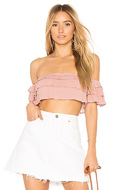 Lola Off the Shoulder Top in Nude Rose
